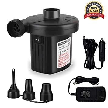 Amazon.com: JIFAR bomba de aire eléctrica portátil, inflador ...