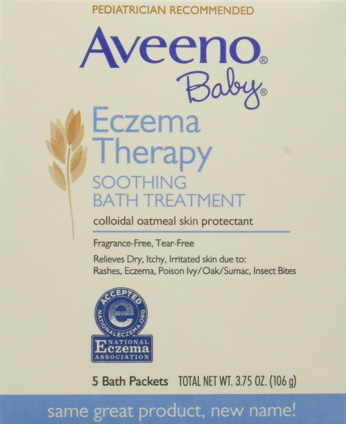Aveeno Baby Eczema Therapy Soothing Baby Bath Treatment, Fragrance Free, 5-Count Packets (Pack of 6) by Aveeno Baby