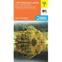 OS Explorer OL7: The Lake District, South-eastern area (OS Explorer Map)