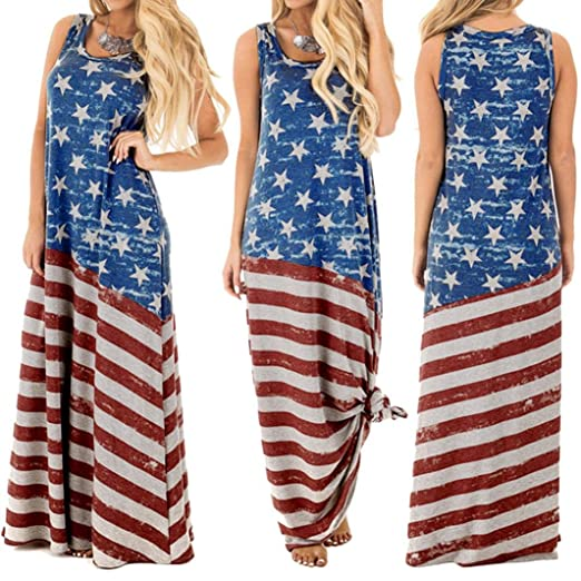 029f20c5bb Image Unavailable. Image not available for. Color  Women American Flag Dress  ...
