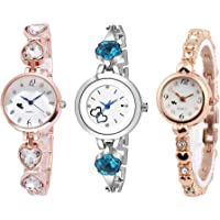 Stylevilla Collection Analogue Multicolour Dial Women's Watch, Combo Pack of 3
