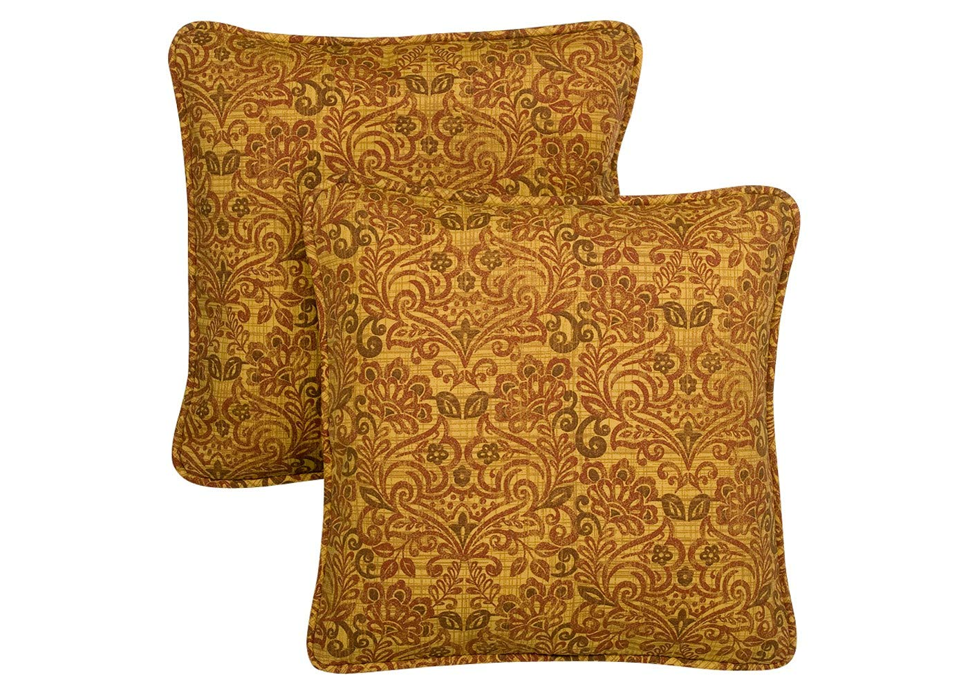 Quality Outdoor Living 69-MG02P Decorative Throw Pillow, Venetian Old Gold