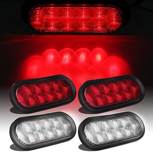 Eagle luces 2 rojo + 2 Color Blanco 6