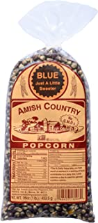 product image for Amish Country Popcorn | 1 lb Bag | Blue Popcorn Kernels | Old Fashioned with Recipe Guide (Blue - 1 lb Bag)