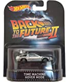 """Time Machine Hover Mode """"Back To The Future Part II"""" Hot Wheels 2015 Retro Series 1/64 Die Cast Vehi"""