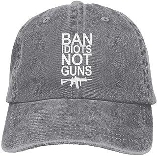 Zcfhike Ban Idiots Pas De Guns Rétro Lavé Teint Coton Réglable Casquette De Cowboy De Baseball Multicolor48