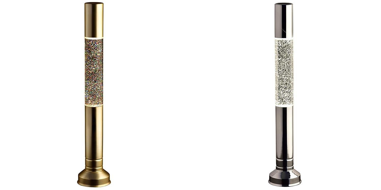 Vintage Design Flat Top Glitter Floating Inside Case Lava Lamp Approx. 57cm