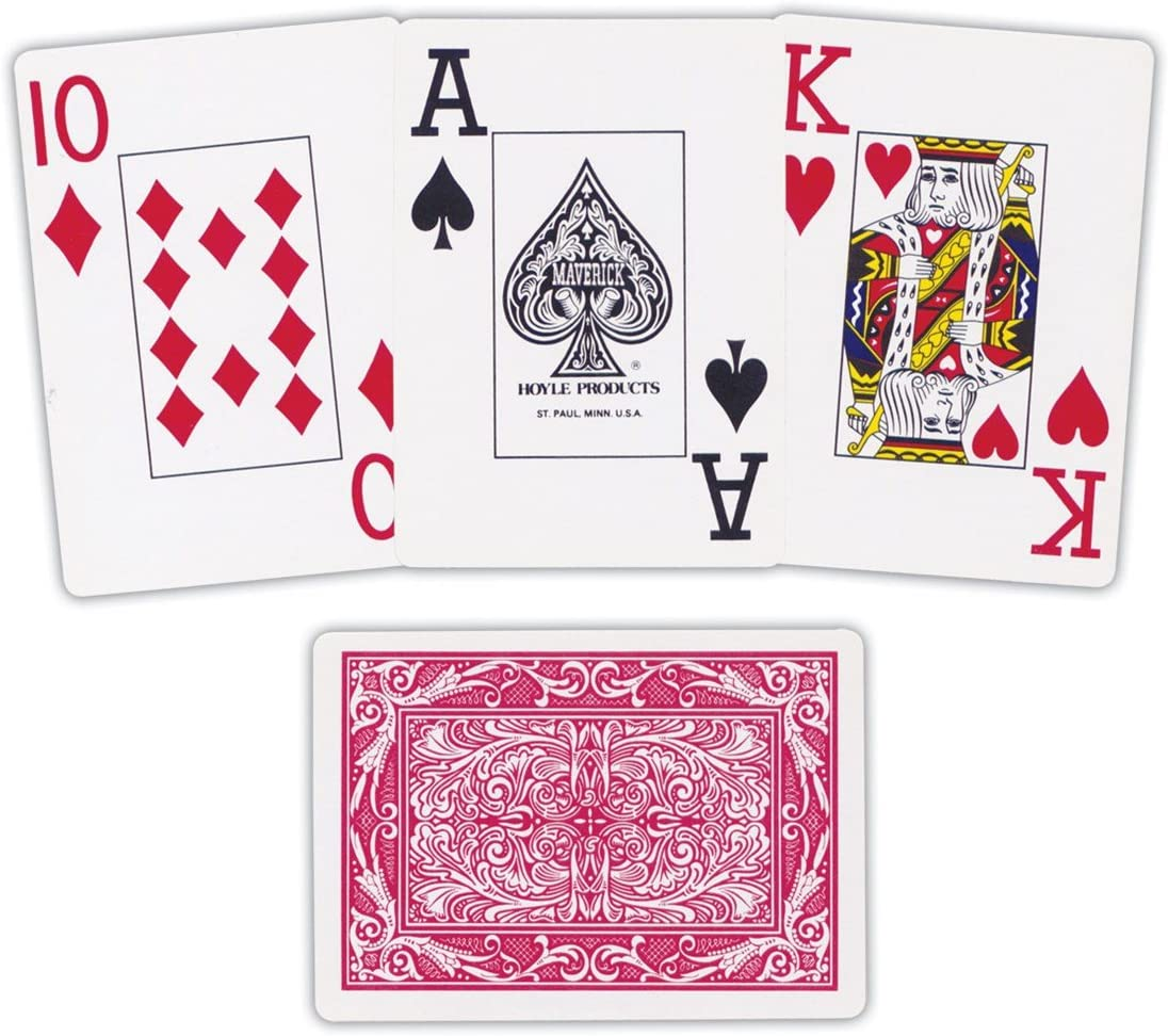 Maverick Jumbo Face Playing Cards for Low Vision