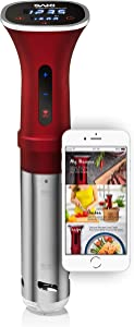 SAKI Sous Vide Cooker, Powerful 1100 Watts (WiFi), Immersion Circulator, Digital Display, SAKI App Included (UPDATED APP)