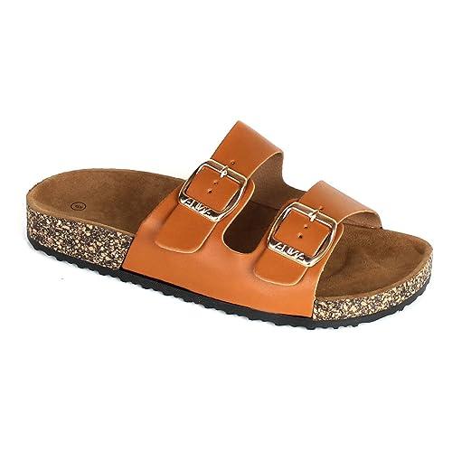 c7e549071ee7 ANNA Home Collection Women s Casual Buckle Straps Sandals Flip Flop  Platform Footbed  Amazon.ca  Shoes   Handbags