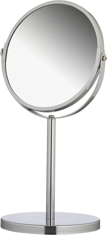Axxentia Bad 282801 - Espejo con peana de 3 aumentos (diámetro: 17 cm, Altura: 34,5 cm)