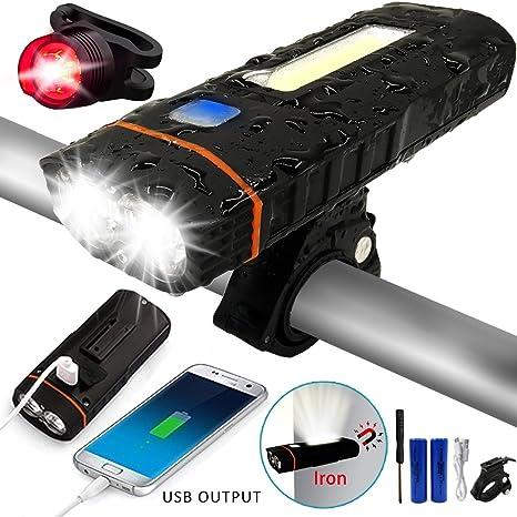 USB Recargable Luz de Bicicleta, Luces para Bicicletas, luz de La ...