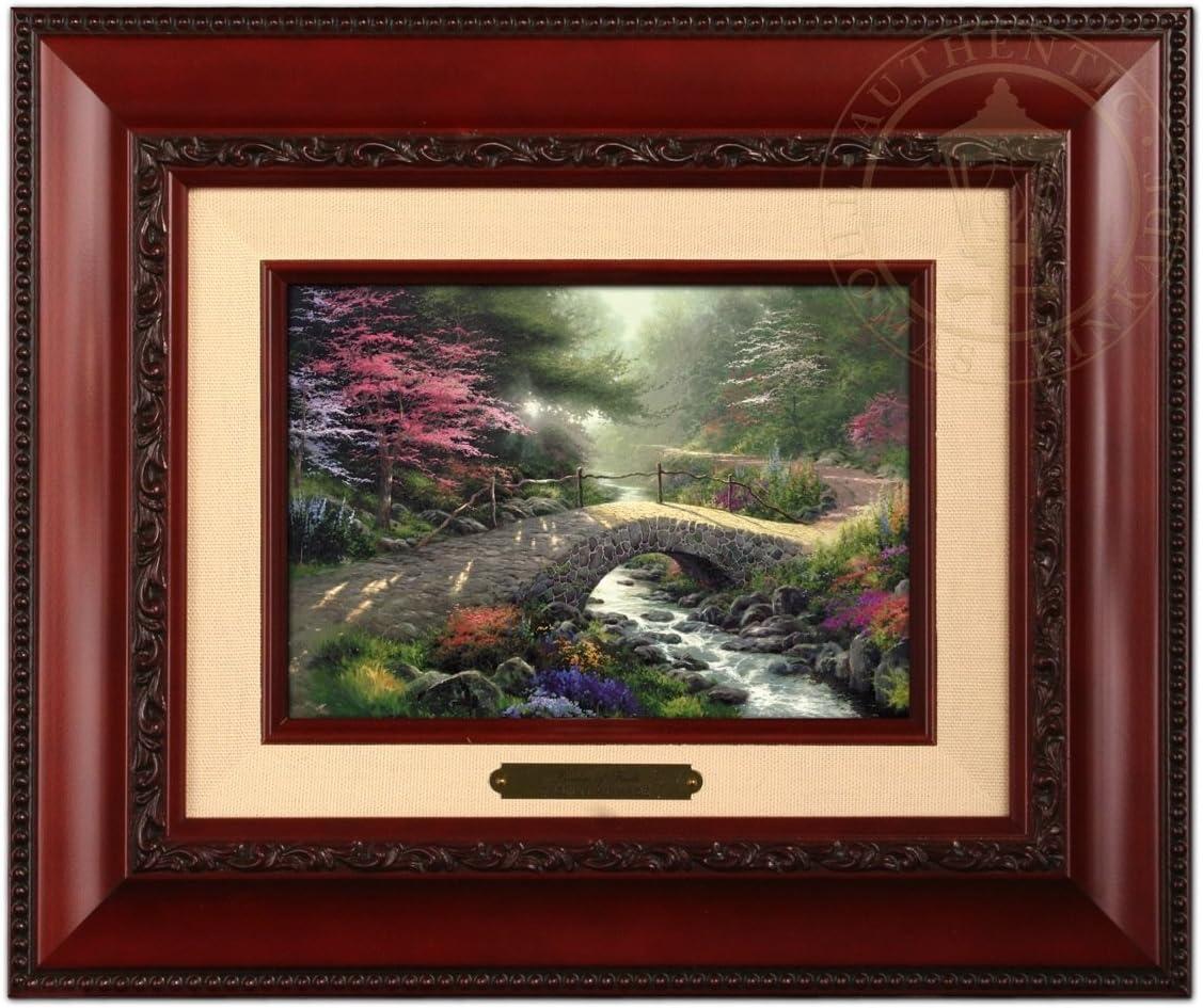 Thomas Kinkade Bridge of Faith Brushwork Brandy Frame