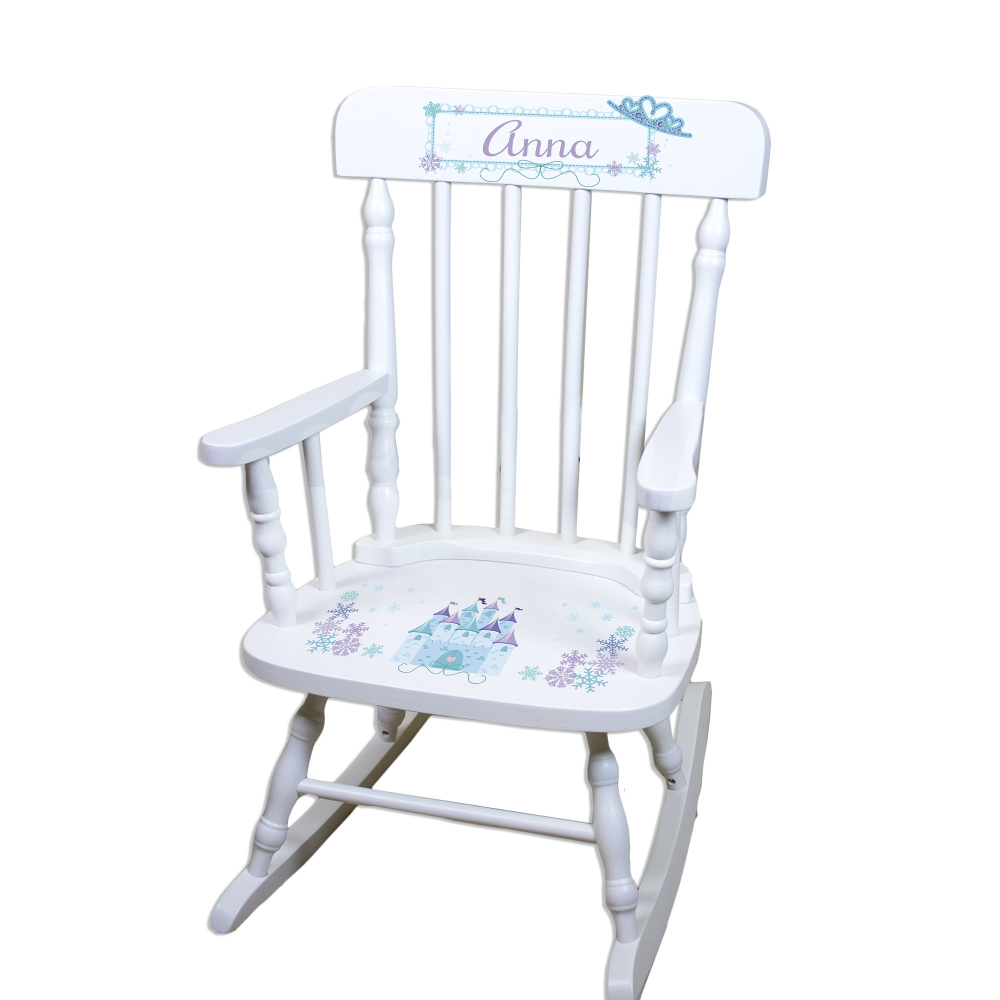 Children's Personalized White Ice Princess Rocking Chair by MyBambino