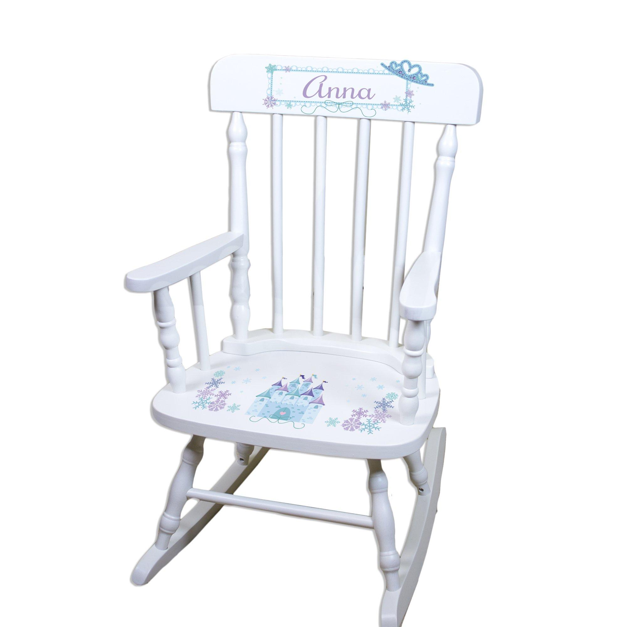 Children's Personalized White Ice Princess Rocking Chair by MyBambino (Image #1)