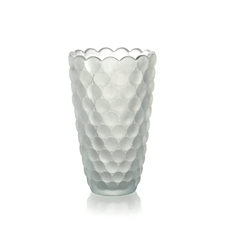 Amazon Fifth Avenue Crystal Decorative Ariana Frosted Vase 9