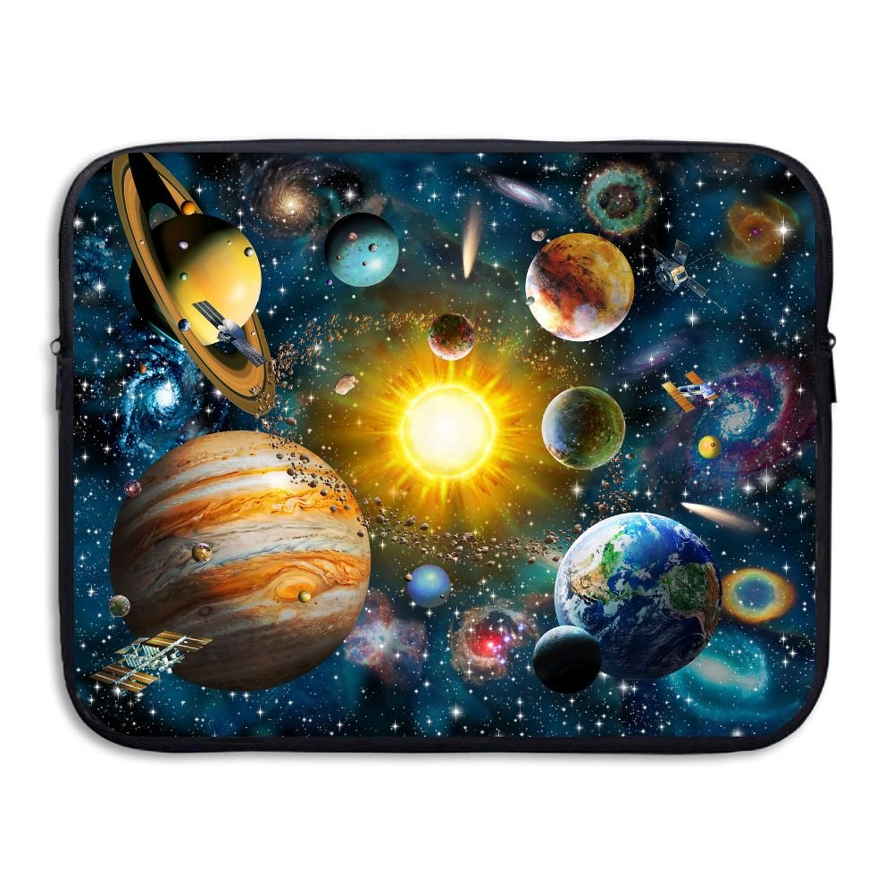 Fonsisi Solar System Planets Illustration Laptop Storage Bag - Portable Waterproof Laptop Case Briefcase Sleeve Bags Cover