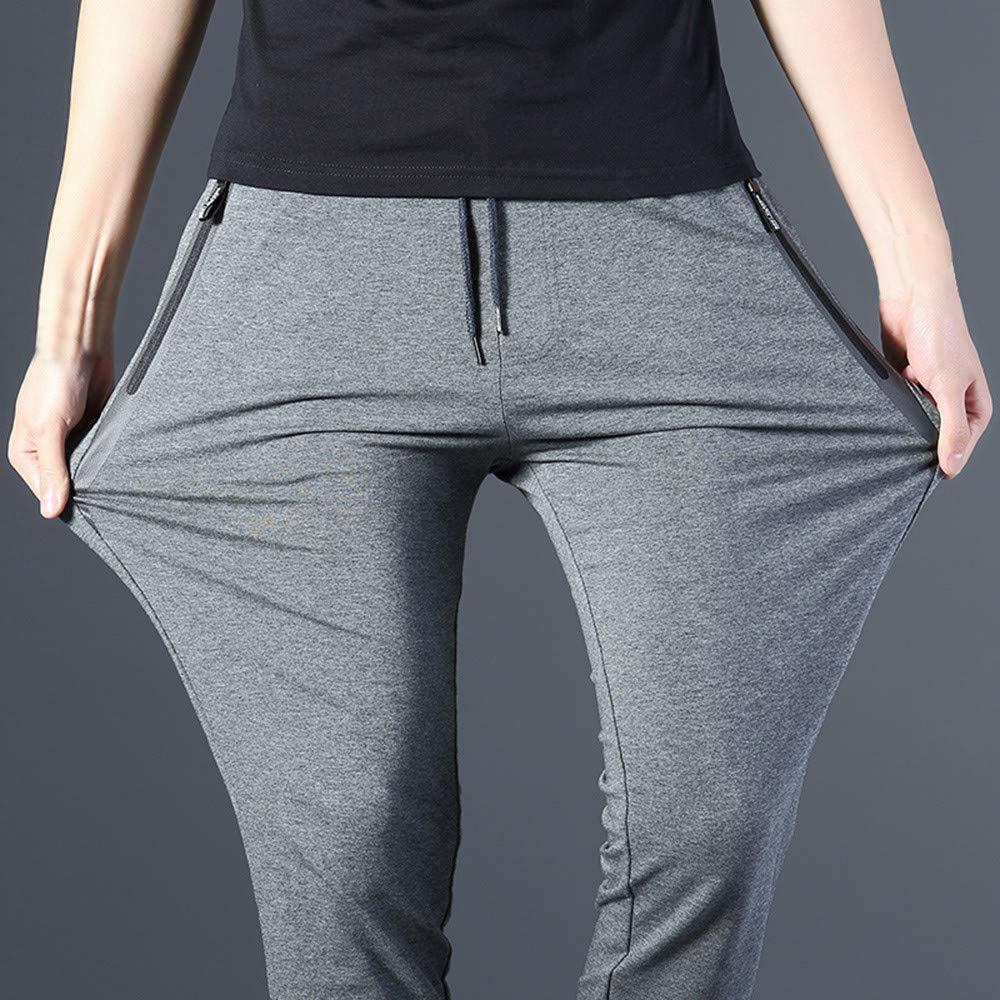 SMTSMT/_Mens pants Mens Fashion Trousers Tethers Elastic Belts Small Feet Casual Pants