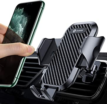Compatible with iPhone 11//11 Pro//8 Plus//8//X//XR//XS//7 Plus Samsung S10//S9//S8 Super Suction Cup Newest Hands-Free Phone Holder for Car Dashboard Windshield Air Vent Andobil Car Phone Mount Easy Clamp