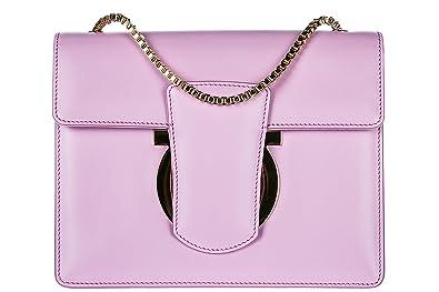 f075e00b4376 Salvatore Ferragamo women s leather cross-body messenger shoulder bag  thalia pin