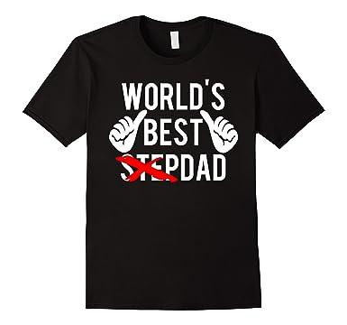 Amazon.com: Mens World\'s Best Step Dad T shirt - Fun Christmas gift ...