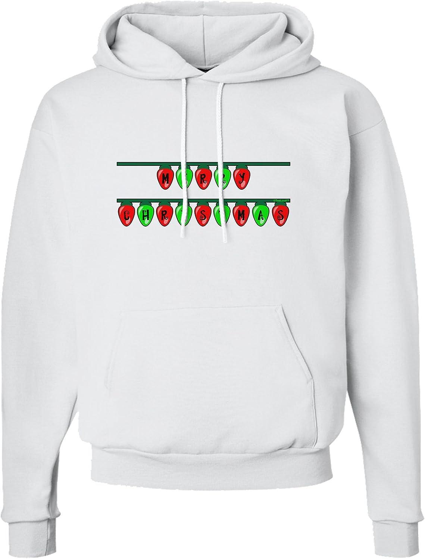 TooLoud Merry Christmas Lights Red and Green Hoodie Sweatshirt