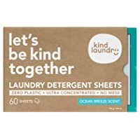 KIND LAUNDRY Detergent Sheets (60 loads, Ocean Breeze) - Hypoallergenic Eco-friendly & Biodegradable Eco-Strips for…