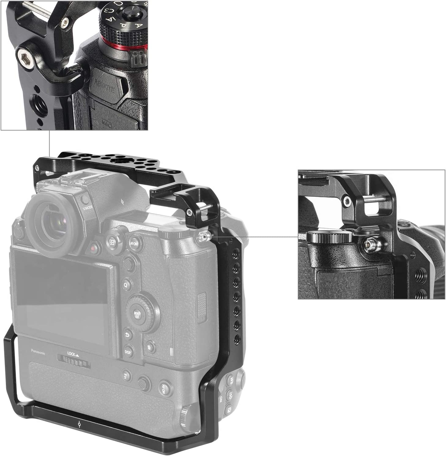 SMALLRIG Cage for Panasonic S1//S1R with DMW-BGS1 Battery Grip CCP2410
