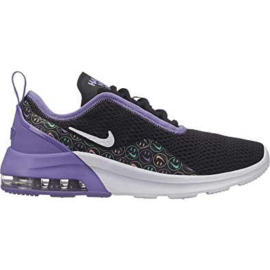 02e2b40d7 Nike Girl s Air Max Motion 2 Shoe Black White Space Purple Cabana Size