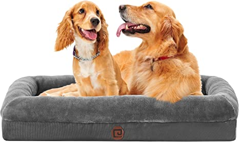 Joyelf Orthopedic Dog Bed Memory Foam Pet Bed With Removable Washable Cover And Squeaker Toy As Gif Youtube