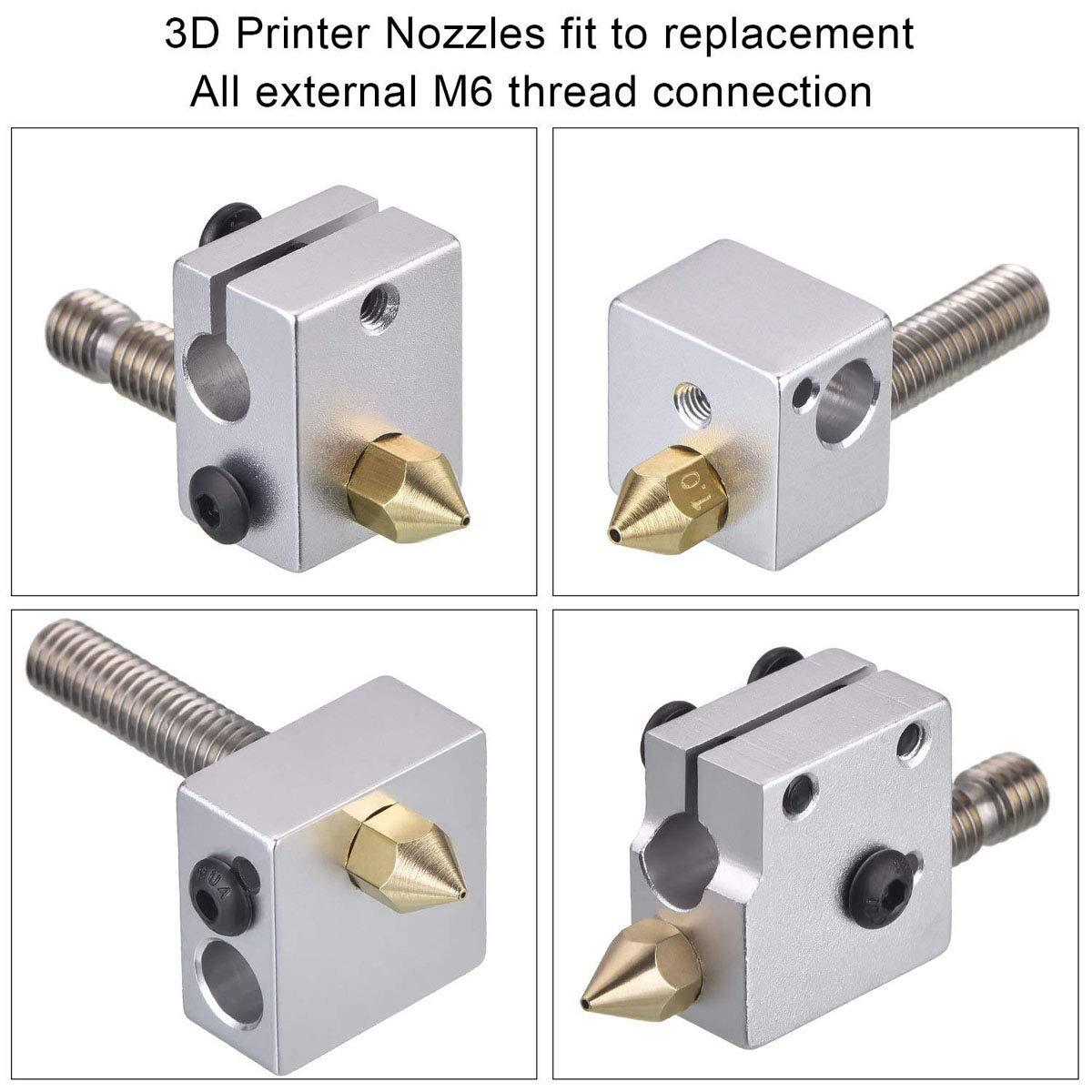 Samje 5pcs M6*30mm Teflon PTFE Extruder Nozzle Throat 1.75mm for MK8 Makerbot Reprap 3D Printers