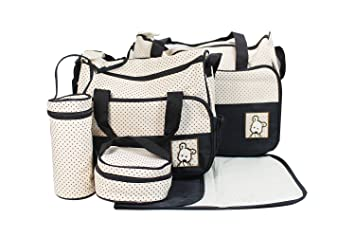 ULable kits Bolsa de Mama Para Bebe Biberon Bolso/Bolsa/Bolsillo Maternal Bebé para carro carrito biberón colchoneta comida pañal de color