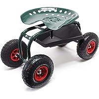 Asiento ruedas taller 150kg Taburete móvil taller Asiento