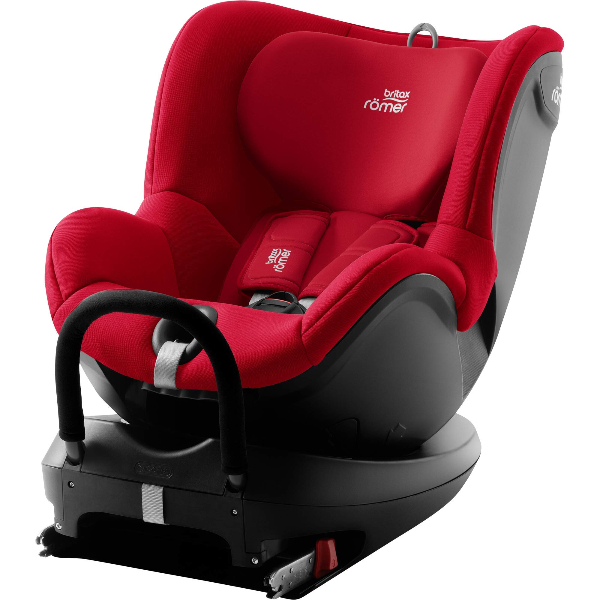 Britax Römer Car Seat DUALFIX 2 R, Swivel, ISOFIX, Group 0+/1 (Birth - 18 kg), Baby 0 to 4 Years Old, Fire Red