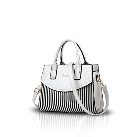 737db0eea NICOLE&DORIS New Women/Ladies Fashion Handbag Messenger Shoulder Purse Tote  Casual Work Bag Hot Sale silver white: Amazon.ca: Luggage & Bags
