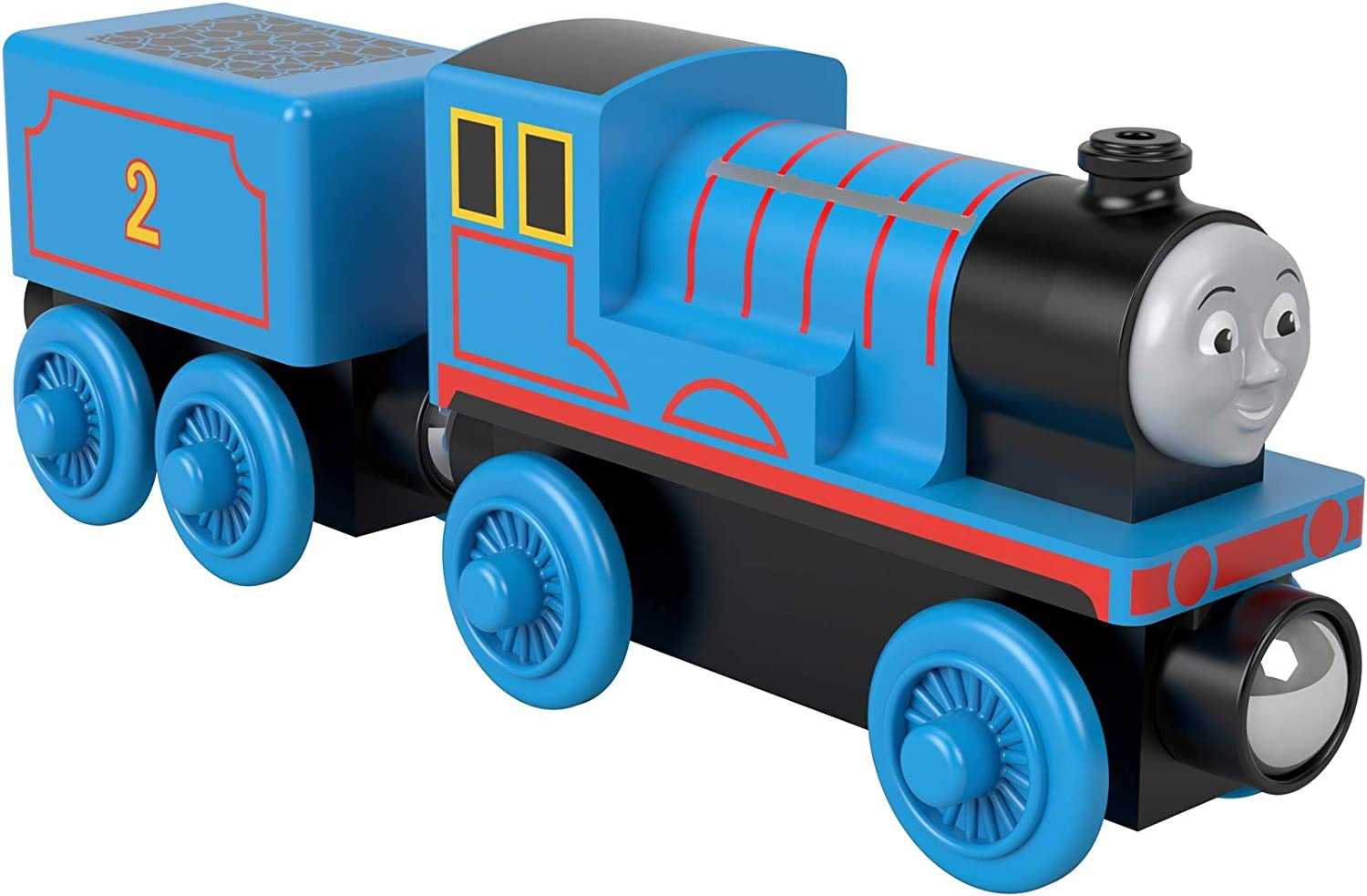 Thomas & Friends Wood Edward push-along train engine for toddlers and preschool kids ages 2 years and up