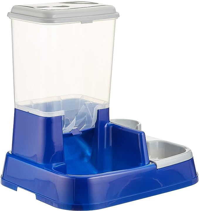Karlie 44046 Duo MAX Dispensador de Comida y Agua, Azul, 37 x 32 x 36 cm