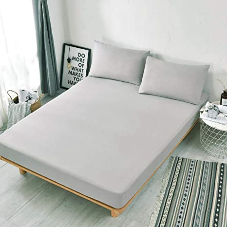 """97c11f29292 Double Fitted Sheet,Ultra Soft Microfiber Fitted Bed Sheets  54""""×75"""","""