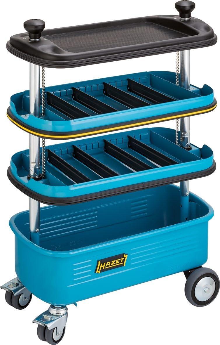 Hazet Rolling, Locking, Collapsible Tool Organizer Cart, HZ166N