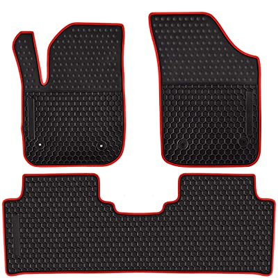 Ucaskin Car Floor Mats Custom Fit for Buick Envision 2016 2020 2020 2020 Odorless Washable Rubber Anti-Slip All Weather Protection Car Floor Liner-Red: Automotive