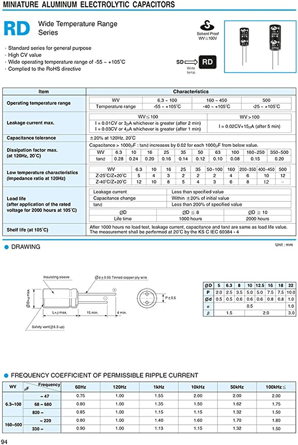 10 Stück Elko 10µf 50v Kondensator Elkos Elektrolytkondensatoren 10 Uf 50 V 105 Radial Elektronik