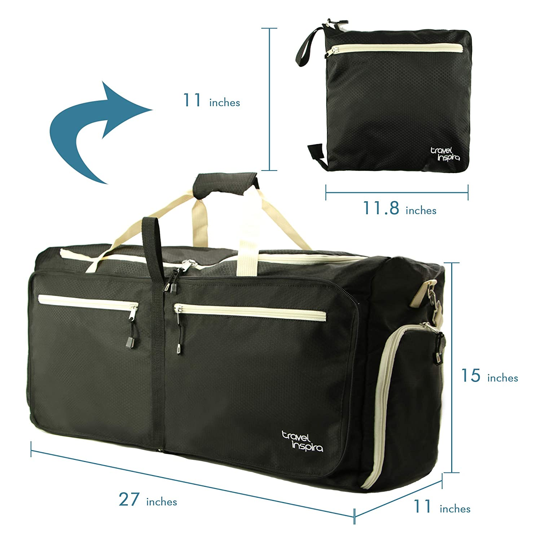 Amazon Com Travel Inspira Foldable Duffel Travel Duffle Bag 8925181c9397a