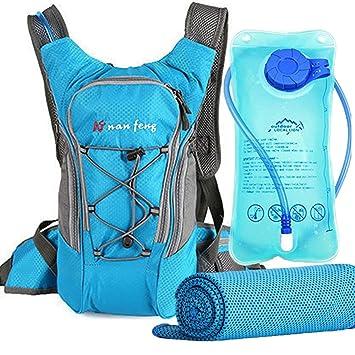 Amazon.com: Mochila de hidratación con agua vejiga (70 oz/2L ...