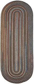 product image for Rhody Rug Augusta Braided Wool Runner Rug (2' x 8') Green