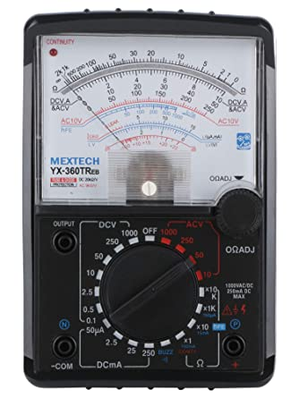 Mextech YX360TReb Analogue Multimeter (Black)