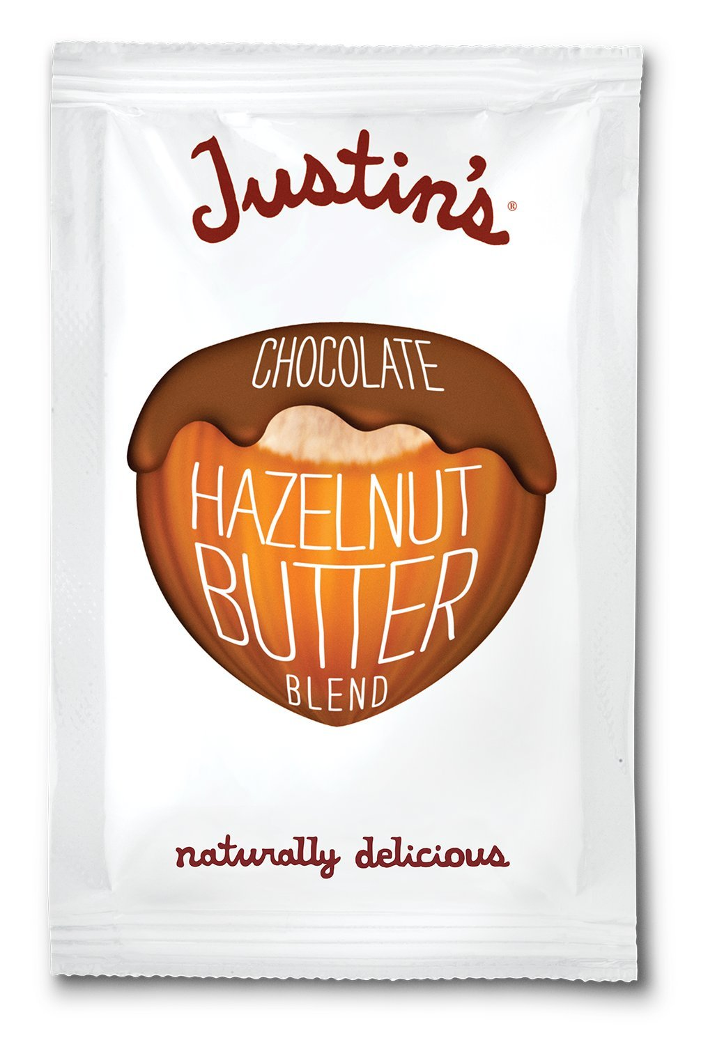 Justin's Nut Butter Natural Chocolate Hazelnut, 1.15 Ounce Squeeze Pack (Pack of 60)