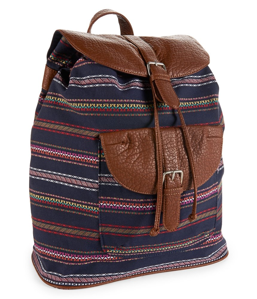 Aeropostale Womens Southwest Stripe Everyday Backpack 413