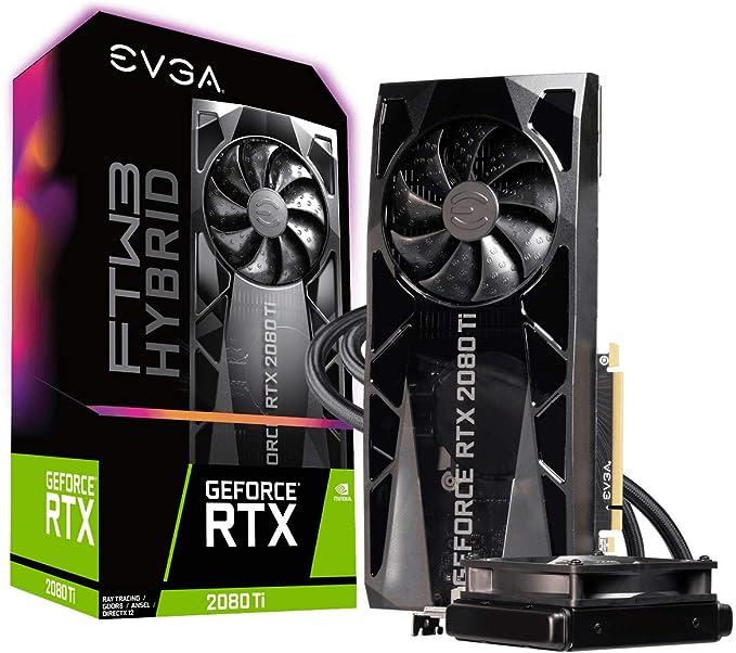 EVGA GeForce RTX 2080 TI FTW3 Ultra Hybrid Gaming, 11GB GDDR6, RGB LED Logo, Tecnologia iCX2, Blackplate de Metal, Placa de Vídeo 11G-P4-2484-KR