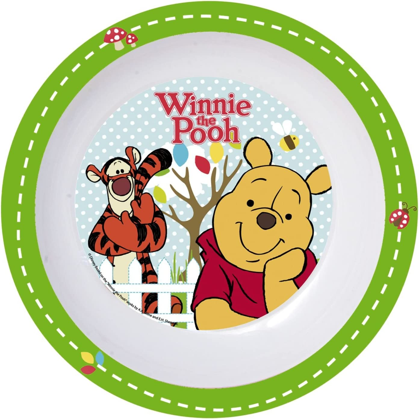 p: os 68916 Placa profunda Disney Winnie the Pooh, melamina, diámetro 19.5 cm
