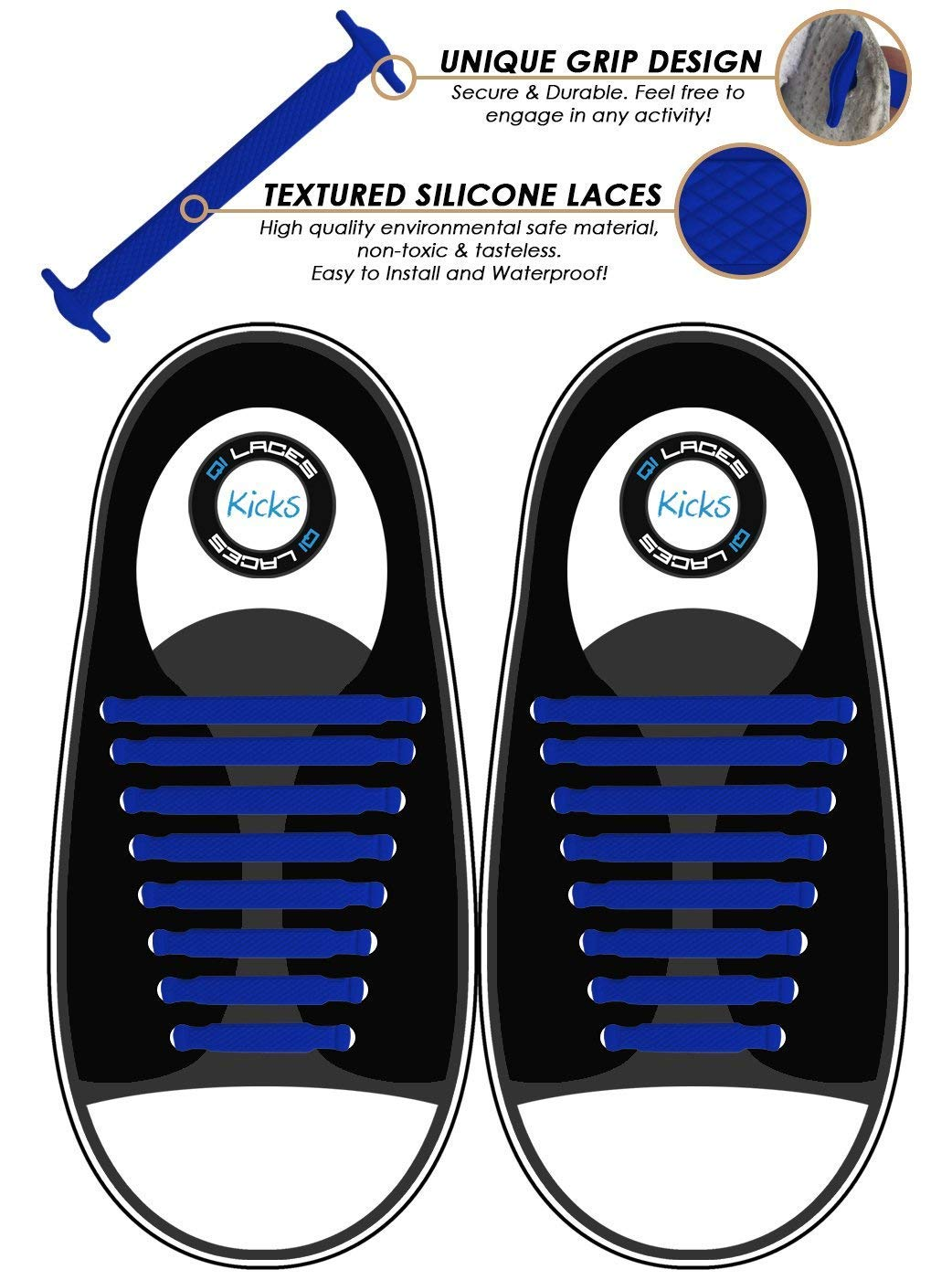 Elastic /& Silicone Shoe Laces to Replace Your Shoe Strings No Tie Shoelaces for Kids /& Adults Makes Any Sneaker a Quick Comfy Slip On